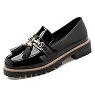 Mujer Zapatos Cuero de Cerdo Primavera / Otoño Confort Bailarinas Tacón Bajo Negro / Azul / Rojo Oscuro braderie Meilleure Vente De Sortie Nicekicks Discount COkHUa