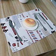 billige Bordduker-Vanlig Lin og bomullsblanding Kvadrat Bordskånere Borddekorasjoner