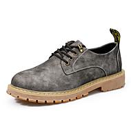 baratos Sapatos de Tamanho Pequeno-Homens Couro Sintético / Couro Ecológico Primavera Conforto Tênis Camel / Cinzento / Castanho Escuro