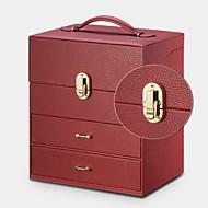 baratos Armazenamento e Organização-PU Leather Poliéster Retangular Capa Inclusa Casa Organização, 1pç Bolsas e Caixas