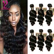 6 pakietów Włosy brazylijskie Luźne fale 10A Włosy virgin Fale w naturalnym kolorze Ludzkie włosy wyplata Ludzkich włosów rozszerzeniach