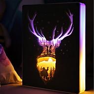 billiga Belysning-1st LED Night Light Varmt vit USB Port Fjärrstyrd Dekorativ Med USB-port