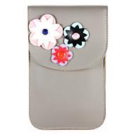 billiga Mobil cases & Skärmskydd-fodral Till Huawei P9 P10 Korthållare Plånbok Liten påse Blomma Mjukt PU läder för P10 Plus P10 Lite P10 Huawei P9 Plus P9 lite mini