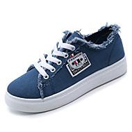 Žene Cipele Platno Proljeće Udobne cipele Sneakers Ravna potpetica Okrugli Toe za Kauzalni Obala Crn Plava