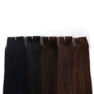 Fita em extensões do cabelo humano cabelo brasileiro remy do cabelo humano em linha reta adultos das mulheres '1pack festa de casamento ocasião
