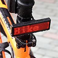 billige Sykkellykter og reflekser-Baklys til sykkel / sikkerhet lys / Baklys LED Sykkellykter Sykling Vanntett, Oppladbar, Blitz Oppladbart Batteri 300 lm Usb / Oppladbar Rød Camping / Vandring / Grotte Udforskning / Sykling