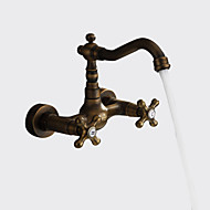 cheap Sprinkle® Faucets-Antique Art Deco/Retro Traditional  with  Antique Brass Two Handles Two Holes  for Widespread