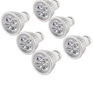 billige Spotlys med LED-YouOKLight 6pcs 4W 320lm GU10 LED-spotpærer 4 LED perler Høyeffekts-LED Dekorativ Varm hvit 85-265V