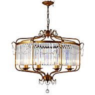cheap Pendant Lights-LightMyself™ Chandelier Pendant Light Ambient Light - Crystal, Retro / Vintage Country, 110-120V 220-240V Bulb Not Included