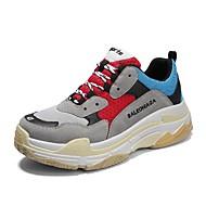 Homens sapatos Tule Primavera Verão Conforto Tênis para Casual Escritório e Carreira Preto Bege Cinzento