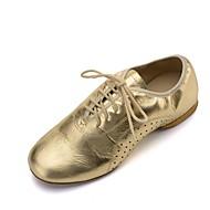 billige Jazz-sko-Dame Jazz Nappa Lær Flate Oxford Profesjonell Flat hæl Gull Svart Sølv <1 Kan spesialtilpasses