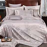 cheap Duvet Covers-Duvet Cover Sets Floral 4 Piece Poly/Cotton Yarn Dyed Poly/Cotton 1pc Duvet Cover 2pcs Shams 1pc Flat Sheet