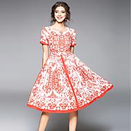 Žene Vintage Ulični šik A kroj Haljina Geometrijski oblici Do koljena