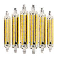 billige Kornpærer med LED-YWXLIGHT® 6pcs 9W 800-900lm R7S LED-kornpærer 164 LED perler SMD 5730 Mulighet for demping Dekorativ Varm hvit Kjølig hvit Naturlig hvit