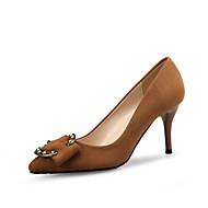 baratos Sapatos Femininos-Mulheres Sapatos Flocagem Primavera / Outono Conforto Saltos Salto Agulha Dedo Apontado Gliter com Brilho Preto / Marron / Festas & Noite