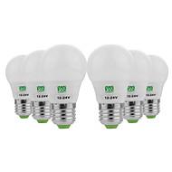 billige Globepærer med LED-YWXLIGHT® 6pcs 3W 200-300lm E26 / E27 LED-globepærer 6 LED perler SMD 5730 Dekorativ Varm hvit Kjølig hvit 12-24V