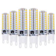 baratos Luzes LED de Dois Pinos-YWXLIGHT® 6pcs 5W 400-500lm G9 Luminárias de LED  Duplo-Pin T 72 Contas LED SMD 2835 Regulável Branco Quente Branco Frio 220-240V
