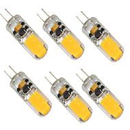 baratos Luzes LED de Dois Pinos-6pcs 2W 280-350lm G4 Luminárias de LED  Duplo-Pin T 1 Contas LED COB Branco Quente Branco Frio 12-24V