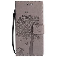billiga Mobil cases & Skärmskydd-fodral Till Sony Xperia XZ1 Compact Xperia L2 Korthållare Plånbok med stativ Lucka Mönster Fodral Katt Träd Hårt PU läder för Sony Xperia