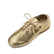 billige Jazz-sko-Dame Jazz Nappa Lær Flate Oxford Trening Profesjonell Flat hæl Gull Svart Sølv <1 Kan spesialtilpasses