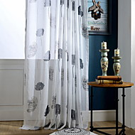cheap Sheer Curtains-Printed Living Room Cotton/Polyester metal