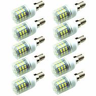 billige Kornpærer med LED-10pcs 3W 200lm E14 G9 GU10 E26 / E27 E12 LED-kornpærer T 60 LED perler SMD 2835 Dekorativ Varm hvit Kjølig hvit 220-240V