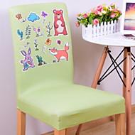 billige Overtrekk-Moderne Sweet Style 100% Polyester Mønstret Stoltrekk, Enkel Ensfarget Dyremønster Trykket slipcovere