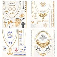 זול קעקועים זמניים-4 תבנית Waterproof סדרת תכשיטים סדרת Totem מדבקות קעקועים