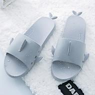 tanie Pantofle-Paski / zmarszczki Zwyczajny Pantofle Pantofle męskie Poliester Skóra PVC Jeden kolor