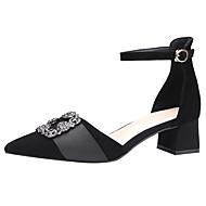 abordables Talons pour Femme-Femme Chaussures Daim Printemps / Eté D'Orsay & Deux Pièces Chaussures à Talons Talon Bottier Bout pointu / Bout fermé Strass Noir /