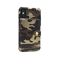 billiga Mobil cases & Skärmskydd-fodral Till Apple iPhone X / iPhone 8 Plånbok / Magnet Skal Kamuflasje Hårt PU läder för iPhone 8 Plus / iPhone 8
