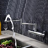 お買い得  キッチン用蛇口-コンテンポラリー ポットフィラー 壁式 回転可 真鍮バルブ シングルハンドル二つの穴 クロム, 水栓