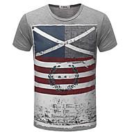 Rund hals Herre - Ensfarvet Farveblok Gade T-shirt