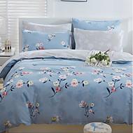cheap Duvet Covers-Duvet Cover Sets Floral 4 Piece Poly/Cotton Jacquard Poly/Cotton 1pc Duvet Cover 2pcs Shams 1pc Flat Sheet