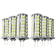 baratos Luzes LED de Dois Pinos-YWXLIGHT® 6pcs 5W 400-500lm G4 Luminárias de LED  Duplo-Pin T 126 Contas LED SMD 3014 Branco Quente Branco Frio 12V 12-24V