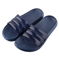 cheap Slippers-Ordinary Slide Slippers Men's Slippers Plastic PVC Leather solid color
