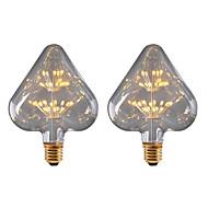 billige Globepærer med LED-BRELONG® 2pcs 3W 300lm E26 / E27 LED-globepærer 30 LED perler SMD Stjernefull Dekorativ Gul 220-240V