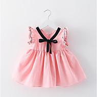 Djevojka je Pamuk Poliester Cvjetni print Dnevno Izlasci Ljeto Bez rukávů Haljina Jednostavan Aktivan Obala Blushing Pink Sive boje