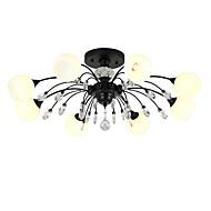 billige Takbelysning og vifter-LightMyself™ 8-Light Lysekroner / Anheng Lys Omgivelseslys Malte Finishes Metall Glass Krystall, Matt 110-120V / 220-240V Varm Hvit / Hvit Pære Inkludert / G9