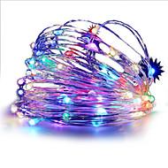 Χαμηλού Κόστους Φωτιστικά LED-hkv® 3m 30λεπτο πολύχρωμο οδήγησε κορδόνι ελαφριά μπαταρία οδήγησε χάλκινο σύρμα νεράιδα διακοπές φώτα χριστουγεννιάτικη βοτανική διακόσμηση κόμμα
