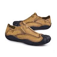 Muškarci Cipele Koža Umjetna koža Mekana koža Proljeće Mokasine Udobne cipele Natikače i mokasinke Hodanje za Kauzalni Vanjski Braon
