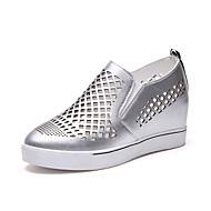cheap Women's Flats-Women's Shoes PU Spring Summer Comfort Sandals Flat Heel Open Toe Lace-up for Casual Dress Black Silver