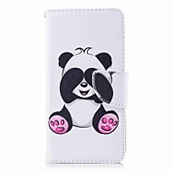 billiga Mobil cases & Skärmskydd-fodral Till Huawei P9 lite mini P8 Lite (2017) Korthållare Plånbok med stativ Lucka Mönster Fodral Panda Hårt PU läder för P10 Lite P10