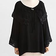 女性用 シャツ シンプル ソリッド