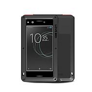 billiga Mobil cases & Skärmskydd-fodral Till Sony Xperia XZ Premium Fri Från Vatten / Smuts / Stöt Fodral Ensfärgat Hårt Metall för Sony Xperia XZ Premium