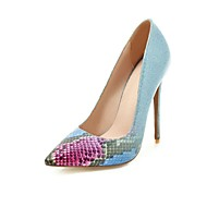 cheap Women's Heels-Women's Shoes Leatherette Spring Fall Mary Jane Heels Stiletto Heel Pointed Toe for Wedding Party & Evening Black Purple Green Blue