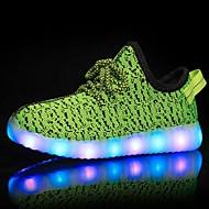 baratos Sapatos de Menina-Para Meninas Sapatos Tule Primavera Conforto / Tênis com LED Tênis Caminhada LED para Verde / Azul / Rosa claro