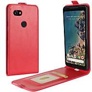 billiga Mobil cases & Skärmskydd-fodral Till Google Pixel 2 XL / Pixel 2 Korthållare / Lucka Fodral Enfärgad Hårt PU läder för Pixel 2 / Pixel 2 XL