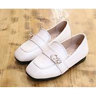tanie Obuwie dziewczęce-Dla dziewczynek Buty Skóra patentowa Wiosna Jesień Comfort Mokasyny i pantofle na Casual White Black Yellow