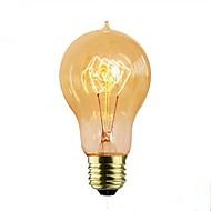 billige Glødelampe-1pc 40 W E26 / E27 A60(A19) Varm hvit / Varm Gul 2300 k Kontor / Bedrift / Dekorativ Glødende Vintage Edison lyspære 220-240 V / 110-120 V